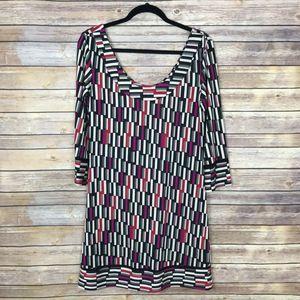 Diane Von Furstenberg 6 Silk Knit Shift Dress B38